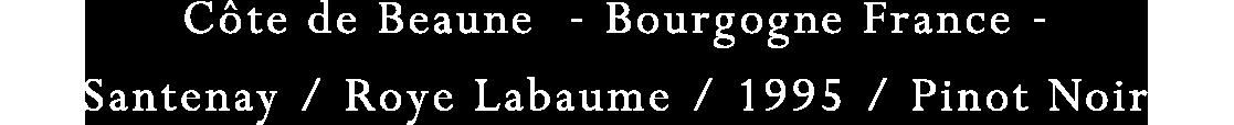 Cote de Beaune - Bourgogne France - |Santenay/Roye Labaume/1995/Pinot Noir